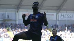 Christopher Antwi-Adjej erzielte zwei Treffer gegen Ingolstadt