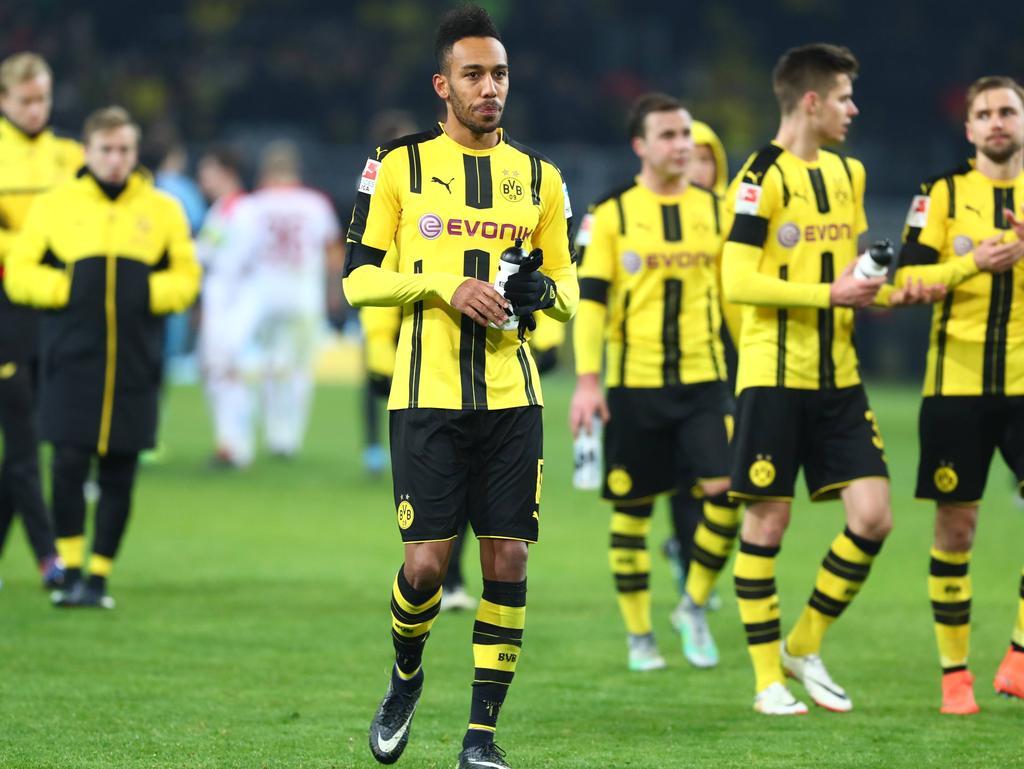 Die BVB-Profis waren nach dem 1:1 gegen Augsburg schwer enttäuscht