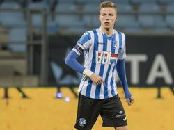 Dario Van Den Buijs in actie tijdens de competitiewedstrijd FC Eindhoven - NAC Breda. (09-12-2016)