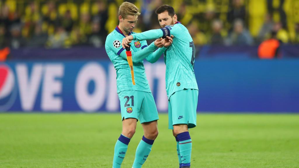 Messi se incorpora al encuentro en Dortmund.