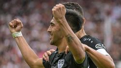 Der VfB Stuttgart setzte sich gegen Jahn Regensburg durch