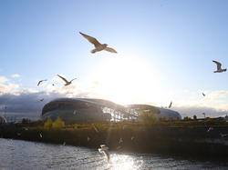 Blick auf das Aviva Stadium