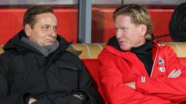 Markus Gisdol (r.) und Horst Heldt (l.) wollen den 1. FC Köln zum Erfolg führen