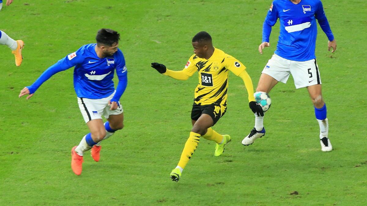Youssoufa Moukoko gab am Samstag sein Debüt für den BVB