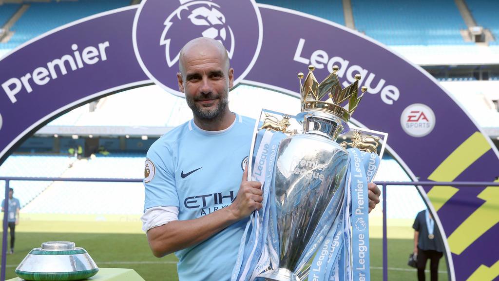 Pep Guardiola ist zum dritten Mal Meister in der Premier League