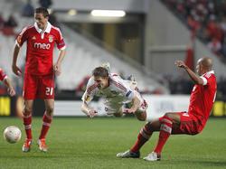 Partido de los lisboetas ante el Leverkusen