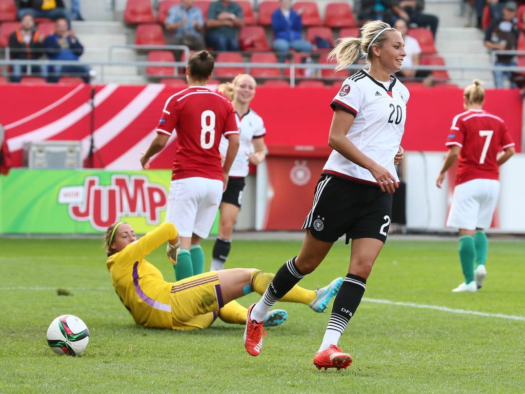 Lena Goeßling trifft doppelt für Deutschland