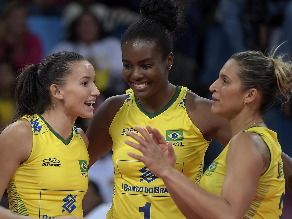 Brasiliens Volleyballerinnen sind nicht nur sportlich ein Blickfang