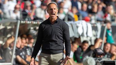 Eintracht-Coach Hütter freut sich über den dritten Sieg in der englischen Woche