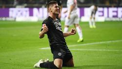 Luka Jovic traf satte fünf Mal gegen Düsseldorf