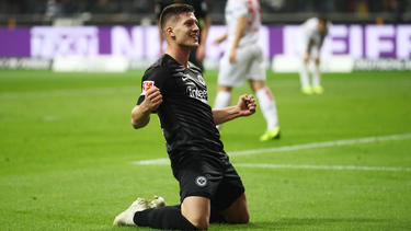 Luka Jovic es el primer jugador en la historia del Eintracht Frankfurt que logra un répoker. (Foto: Getty)