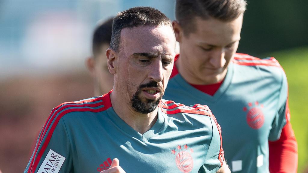 Franck Ribéry während des Trainings im katarischen Doha