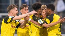Borussia Dortmund jubelt über den Einzug ins Finale
