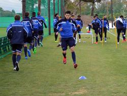 Los jugadores del Marbella entrenándose por primera vez en la Ciudad Deportiva. (Foto: Getty)