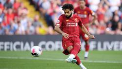 Salah marcó un doblete para salvar los tres puntos para los 'Reds'.