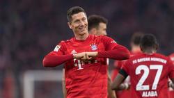 Robert Lewandowski vom FC Bayern führt die Bundesliga-Torjägerliste an