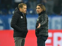 Das Wolfsburger Führungsduo Rebbe (l.) und Schmidt steht in der Kritik