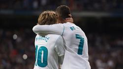 Luka Modric (l.) spielte bei Real Madrid gemeinsam mit Christiano Ronaldo