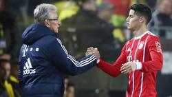 James (re.) denkt gern an die gemeinsame Zeit mit Heynckes beim FC Bayern zurück