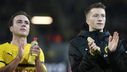 Mario Götze (l.) und Marco Reus bekamen trotz Niederlage Applaus von den Fans