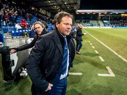 De Graafschap-trainer Henk de Jong is ontevreden na afloop van het competitieduel De Graafschap - FC Den Bosch (20-01-2017).