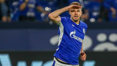 Simon Terodde traf gegen Düsseldorf doppelt für seinen FC Schalke