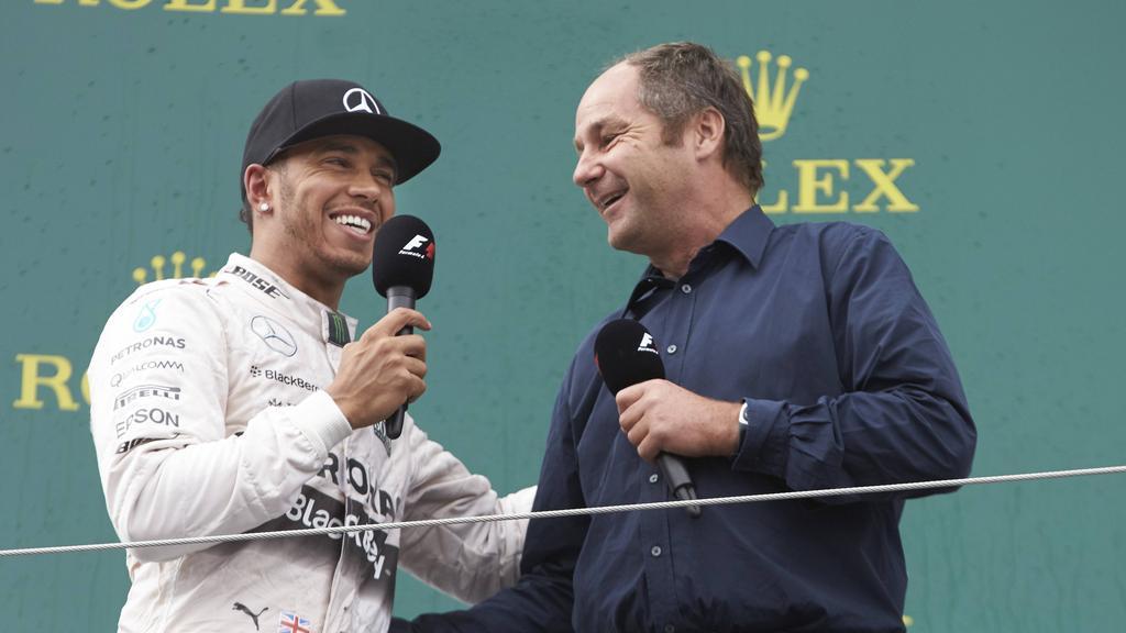 Gerhard Berger (re.) ist ein Fan von Lewis Hamilton