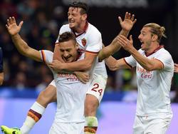 Die Spieler des AS Rom haben Grund zur Freude
