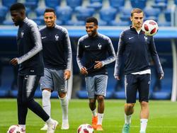 Entrenamiento de hoy de la selección francesa. (Foto: Imago)