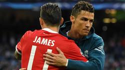 James Rodríguez (l.) und Cristiano Ronaldo verstehen sich gut