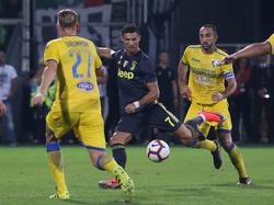 Ronaldo marcó su gol número tres con la Juve. (Foto: Getty)