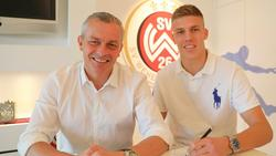 Sportdirektor Christian Hock und Jakov Medic (v.l.)