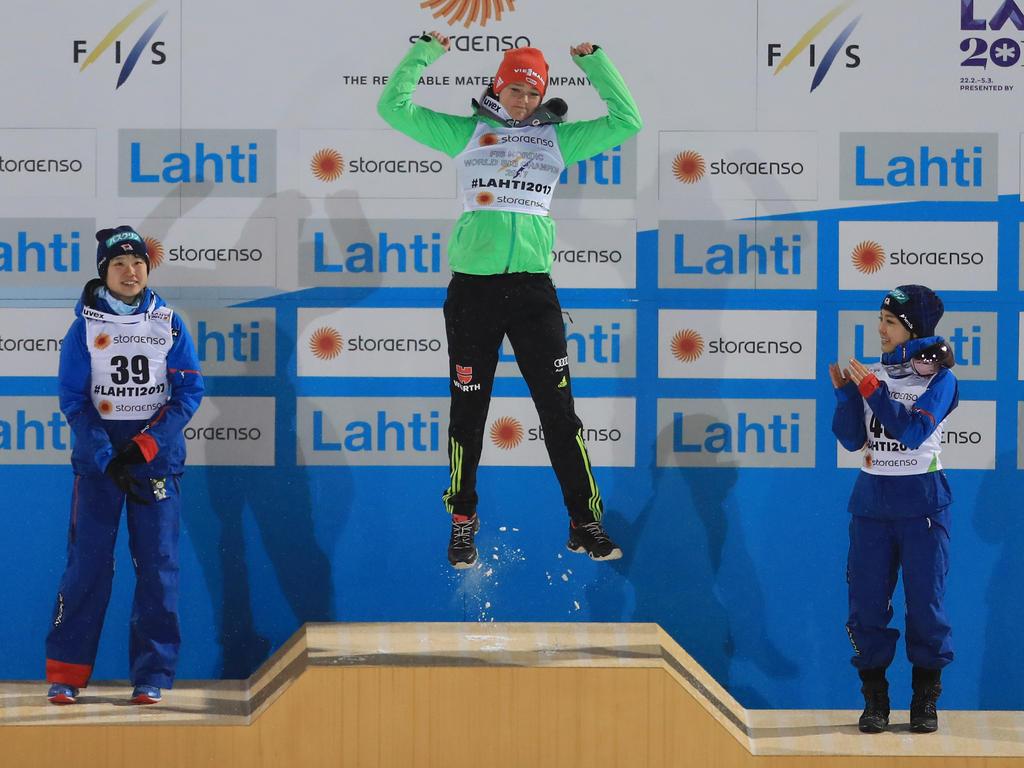 Sprung ins Glück: Carina Vogt holt WM-Gold in Lahti