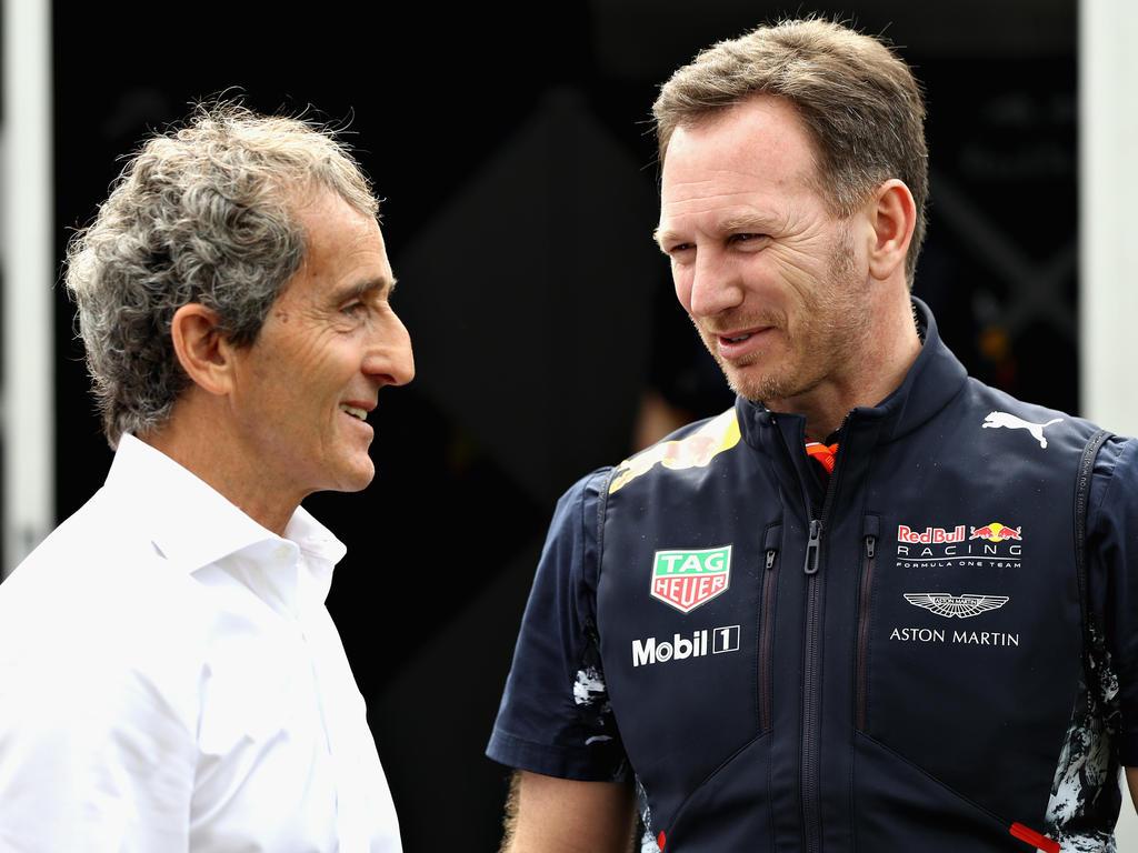 Alain Prost (l.) rechnet mit harter Gegenwehr der Kunden Red Bull und McLaren
