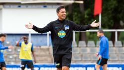 Sieht in den beiden Derbys mit Union Berlin zwei Siege als Pflicht an: Hertha-Trainer Ante Covic. Foto:Soeren Stache