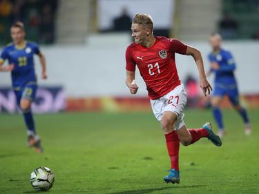 Marco Grüll erzielte das Goldtor von Österreichs U21-Team im Kosovo
