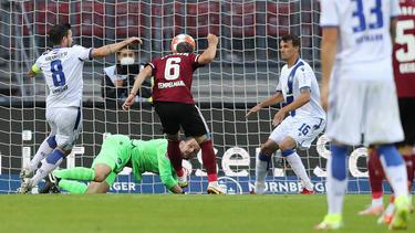 Nürnberg gewinnt gegen den KSC