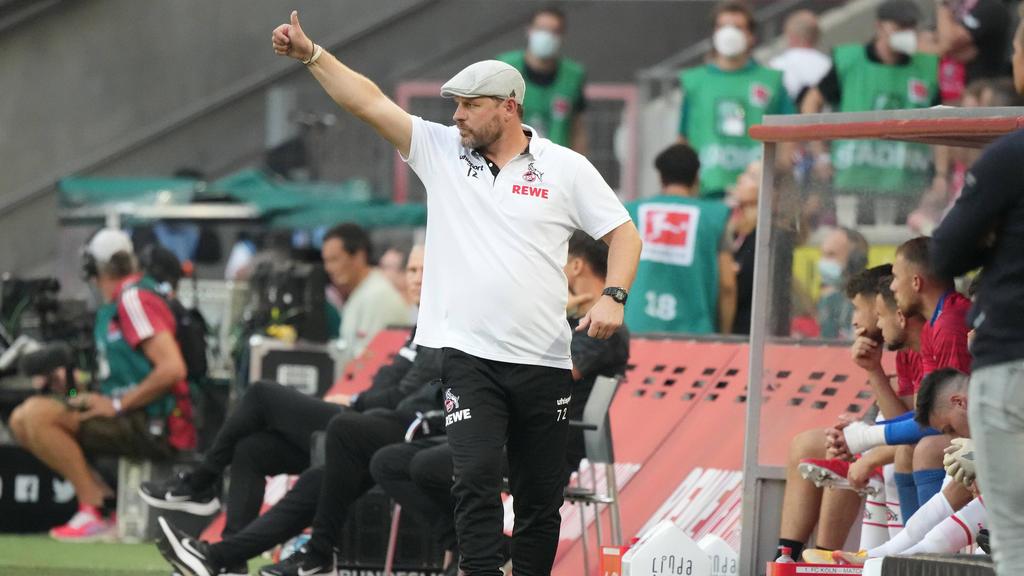 Kölns Trainer Steffen Baumgart ist immer emotional bei der Sache