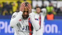 Angefressen: PSG-Star Neymar nach der Pleite beim BVB