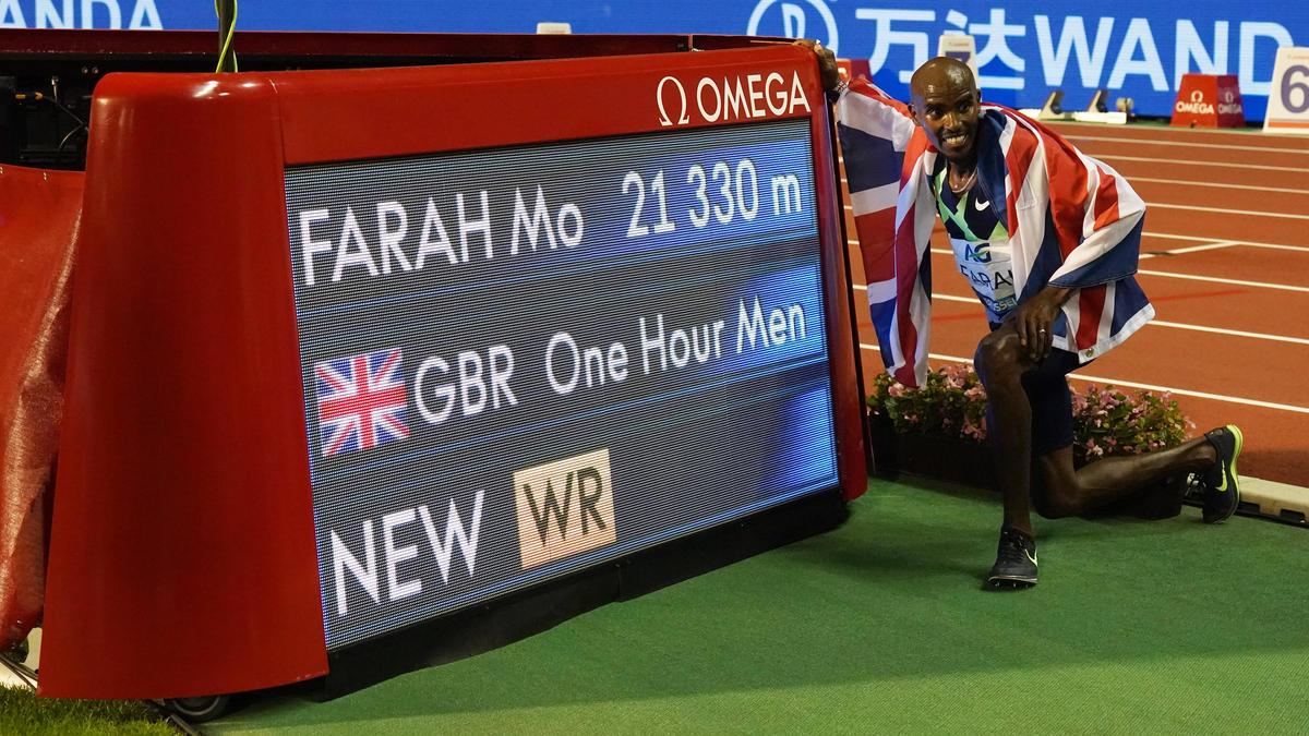 Stellte in Brüssel einen neuen Stundenweltrekord auf: Mo Farah
