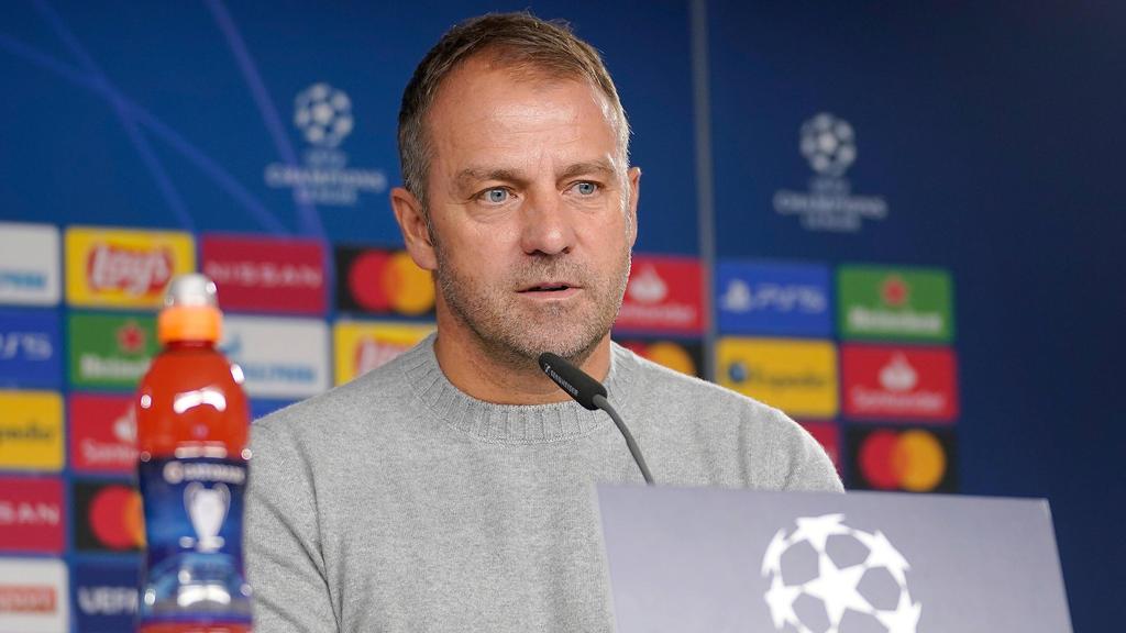 Hansi Flick hat sich kurz vor der Partie gegen Atlético zur Personalsituation geäußert