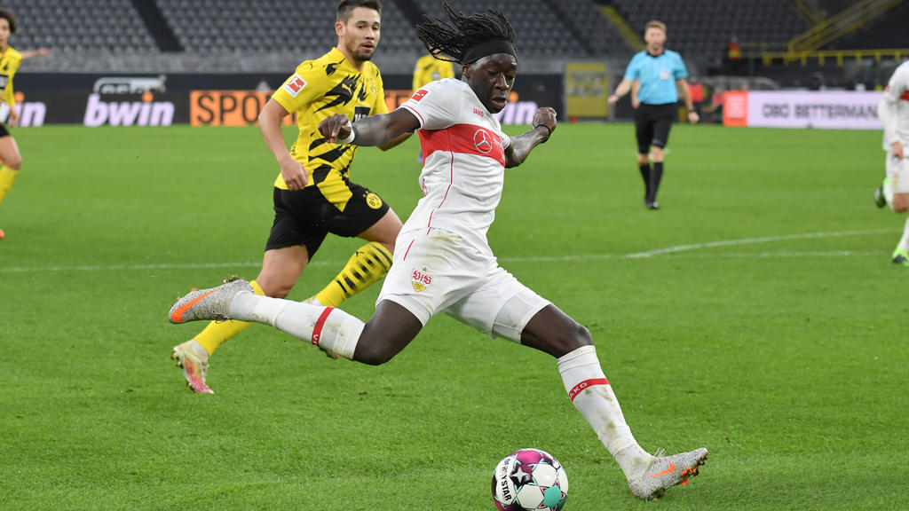 Tanguy Coulibaly vom VfB Stuttgart ist mit dem Coronavirus infiziert