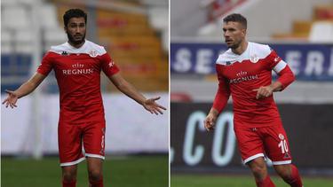Nuri Sahin und Lukas Podolski (r.) spielen inzwischen gemeinsam bei Antalyaspor