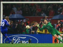 CL-Finale 2008: Van der Sar hält den entscheidenden Elfmeter