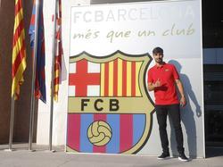 André Gomes wordt gepresenteerd als nieuwe speler van FC Barcelona (26-07-2016).