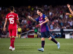 Messi celebra un tanto ante el Girona. (Foto: Getty)