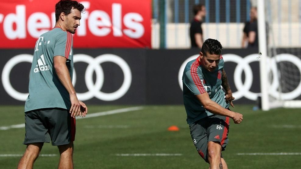 Mats Hummels und James Rodríguez stehen dem FC Bayer wieder zur Verfügung