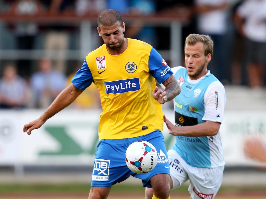 Dominik Rotter (l.) wechselte 2016 von der Vienna zur Wiener Viktoria
