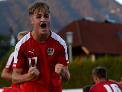 Salzburg-Nachwuchsspieler Aldin Aganovic traf doppelt