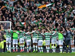 El Celtic clebra el triplete ante su afición (Foto: Getty)